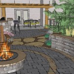 Custom 3D Landscape Firepit Design Minneapolis