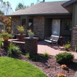 Paver front yard entries