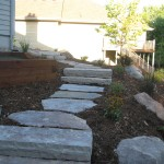 Backyard Walkway Landscaping Rocks