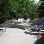 Backyard Pool and Firepit