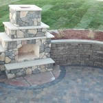 Outdoor Fireplace Landscape Design Minneapolis