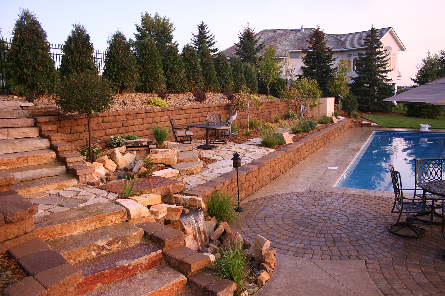 Pool landscapes minneapolis mn high end residential for Residential landscaping