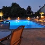 Pool Landscape at Night Savage